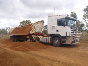 Tipping Gravel for Charters Towers Shire Council roadworks
